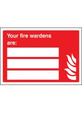 Your Fire Wardens Are (Space for 3 People)
