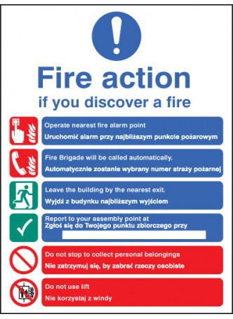 Fire Action Auto Dial with Lift (English / Polish)