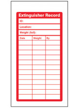 Fire Extinguisher Inspection Record Tags (Pack of 10)