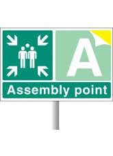 Special Assembly Point - Aluminium with Channelling - 600 x 400mm