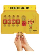 Lockout Station - 4 Lock Capacity - Includes Contents