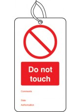 10 x Do Not Touch - Double Sided Tags