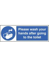 Please Wash Your Hands After Going to Toilet