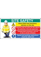 Site Safety - Banner with Eyelets (as 6415)