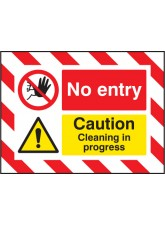 Door Screen Sign- No Entry Caution Cleaning in Progress - 600 x 450mm