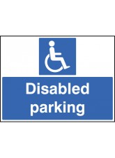 Disabled Parking Only with Frame - 600 x 450mm