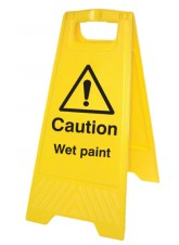 Caution Wet Paint - Self Standing Folding Sign