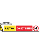 Caution - Do Not Enter Non-Adhesive Barrier Tape