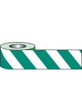 Self Adhesive Hazard Tape - 33m x 50mm - Green / White