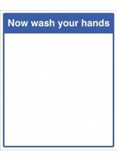 Mirror Message - Now Wash Your Hands 405 x 485mm
