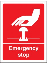 Emergency Stop (white / red)