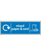 WRAP Recycling Sign - Mixed Paper & Card