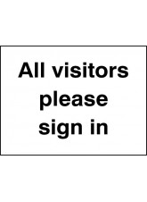 All Visitors Please Sign In