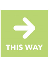 This Way - Arrow Right - Green Floor Graphic